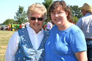 Joyce with Donna Turpin, one of the originators of the Cowboy Church event.