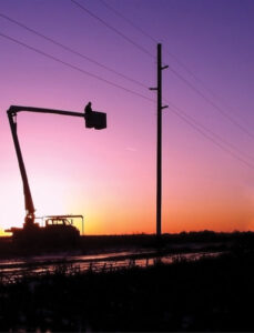 Bucket Trucks at sunset Source Dave Behle Dawson Public Power District 2007