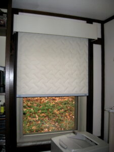 Insulated window quilt shades increase the R-value of ­windows and reduce air leakage.