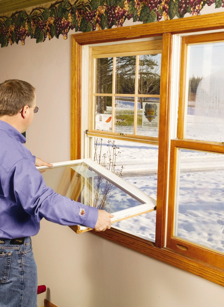 Tilt-in double-pane, sash-only replacement kits provide a convenient way to convert old windows into efficient ones, if your existing frames are in good condition.