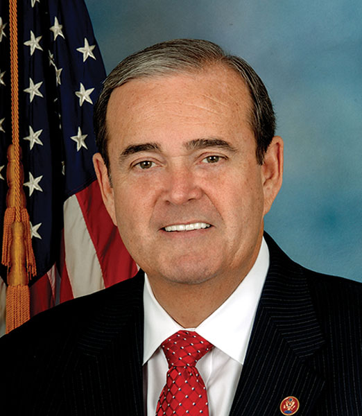 Congressman Jerry Costello was first elected to Congress in August of 1988. He was a senior member of the House Transportation and Infrastructure Committee and the House Science Space and Technology Committee.
