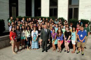 Future leaders representing electric and telephone co-ops from across Illinois met with Senator Dick Durbin on June 20 as part of the 2013 Youth to Washington Tour. They were also honored to meet with Representatives John Shimkus, Rodney Davis, Aaron Schock, Adam Kinzinger, William Enyart and Cheri Bustos.