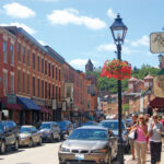 Galena's historic Main Street curves past more than 100 shops, restaurants and attractions. Photo courtesy of the Galena/Jo Daviess County Convention & Visitors Bureau.