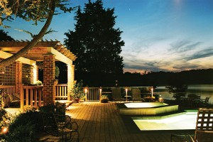 View of an efficient and well-lighted house for security and entertaining Source: Hadco