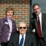 Illinois Director of USDA Rural Development Colleen Callahan (l-r) worked closely with EJ Water's ­founding board ­member Delbert Mundt and CEO Bill Teichmiller to fund the treatment plant and expansion of the water co-op.