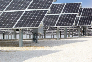 Illinois Rural Electric Cooperative's solar plant is located on four acres south of Winchester. With 2,223 U.S. made panels it is the first utility-scale solar system built by a cooperative in Illinois.