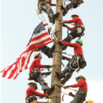 Flag raising Lineman Rodeo 2014