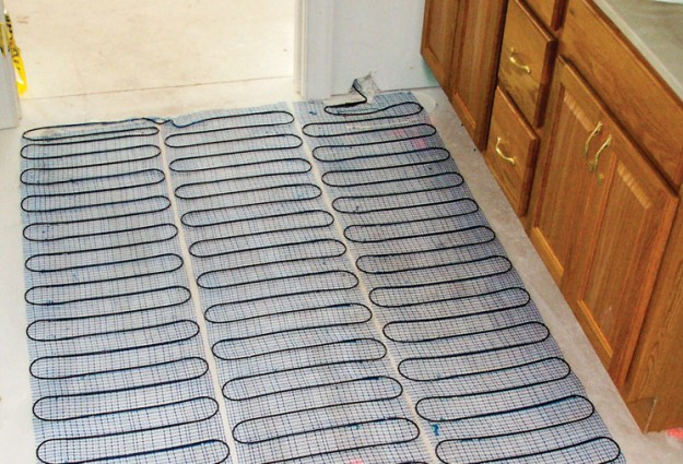 In floor electric heating options illinois country for Radiant heat flooring options