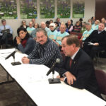 Duane Noland (right) testified a year ago at an EPA ­listening session. Since then 1.2 million co-op members also voiced their concern about the regulations impact on the affordability of electricity.