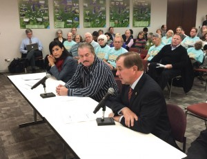 Duane Noland (right) testified a year ago at an EPA listening session. Since then 1.2 million co-op members also voiced their concern about the regulations impact on the affordability of electricity.