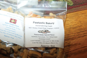 Small bite-sized treats come in three varieties of flavors at Pawtastic Bakery.