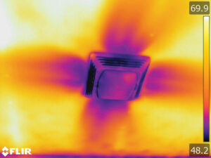 Do it yourself energy efficiency projects illinois country living an infrared photo of a bath exhaust fan leaking attic air into the home while the solutioingenieria Gallery
