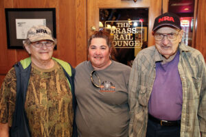 Mary, daughter Mary Ann Spesard, and Mary's husband Pete.