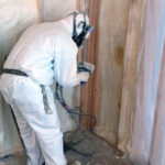 For basement walls and rim joist the best choice is closed cell spray foam applied directly to the foundation walls.