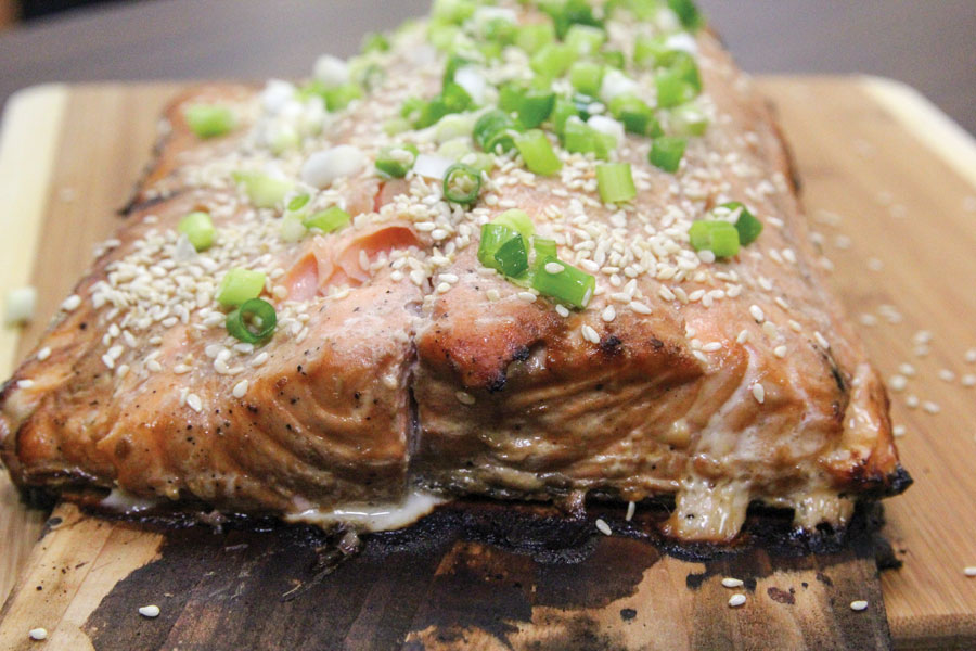 Alder Planked Salmon Illinois Country Living MagazineIllinois Country Livin