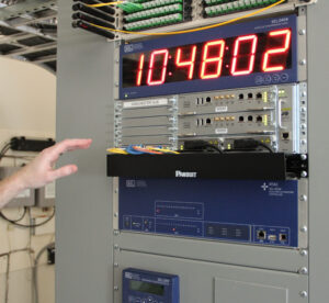 This substation intelligent electronic device has fiber optic communications—a key ingredient for the smart grid.