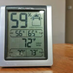 This common temperature and ­humidity gauge sells for $12-$18. It's nice to have one on each floor. There are several ­others gauges that work great. You can even get them with three or four ­sensors that c­ommunicate with your smart phone.