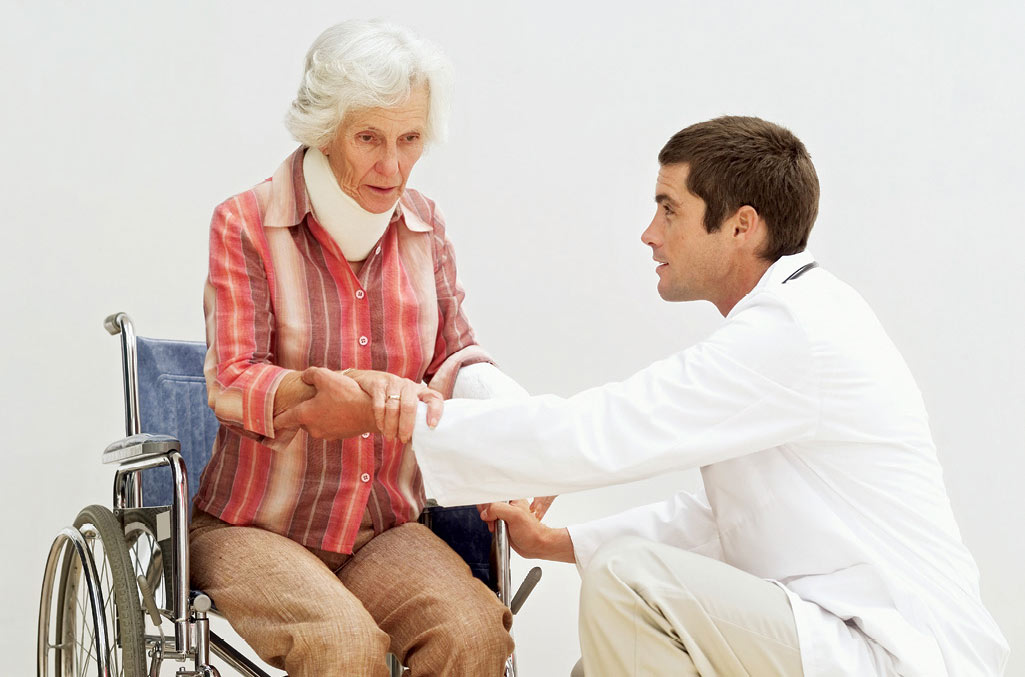 Doctor and Lady in Wheelchair