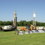 Installers work on a geothermal project at Southern Illinois University, one of 51 projects receiving funding under the GeoAlliance grant program.
