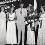 Kathy Harriss with Governor Walker and other beauty queen competitors.