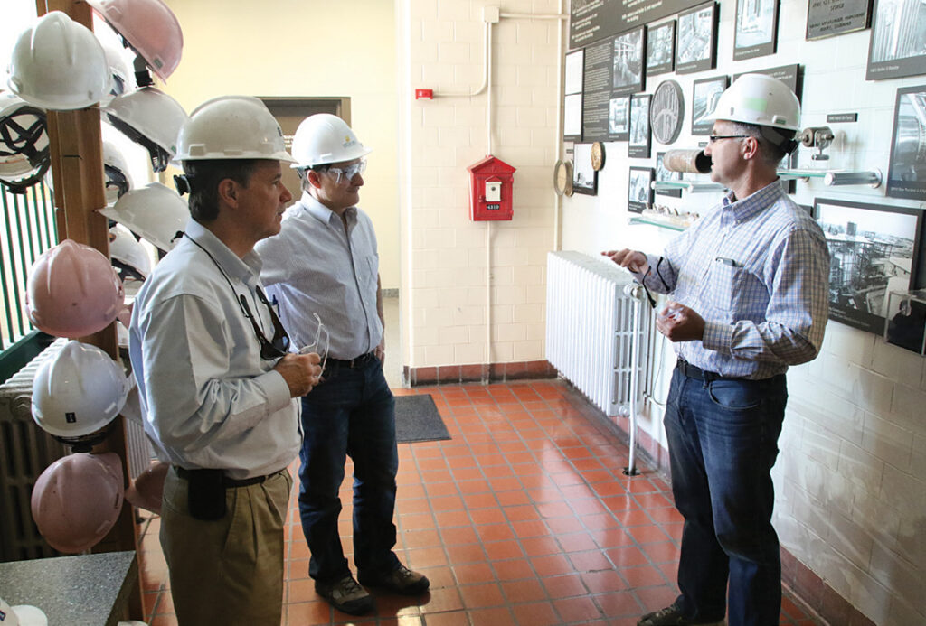 Co-op employees touring Abbot Power Plant