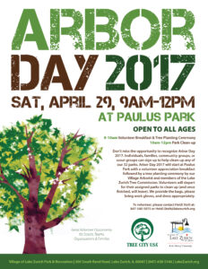 Arbor Day @ Henry J. Paulus Park | Lake Zurich | Illinois | United States
