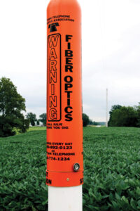 Fiber Optics Warning Pole
