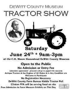 DeWitt County Museum Tractor Show @ C.H. Moore Homestead DeWitt County Museum | Clinton | Illinois | United States
