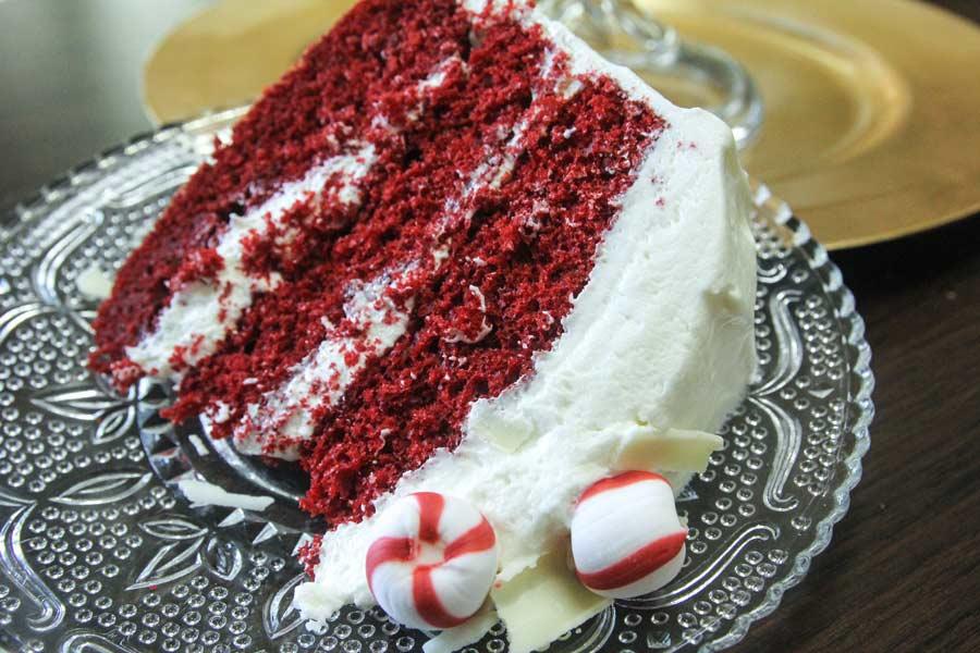 Peppermint Red Velvet Cake