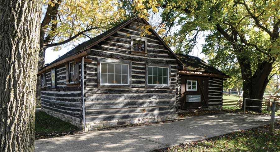 The visitor's center at Lincoln Log Cabin historic site near Lerna