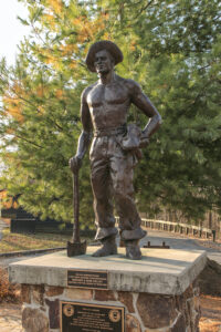 Statue of CCC Worker