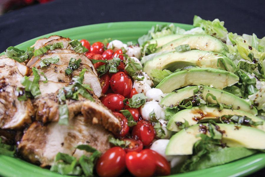 Chicken Avocado Caprese Salad