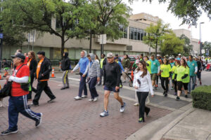 Heart Association sponsors numerous walks to raise awareness of heart health.