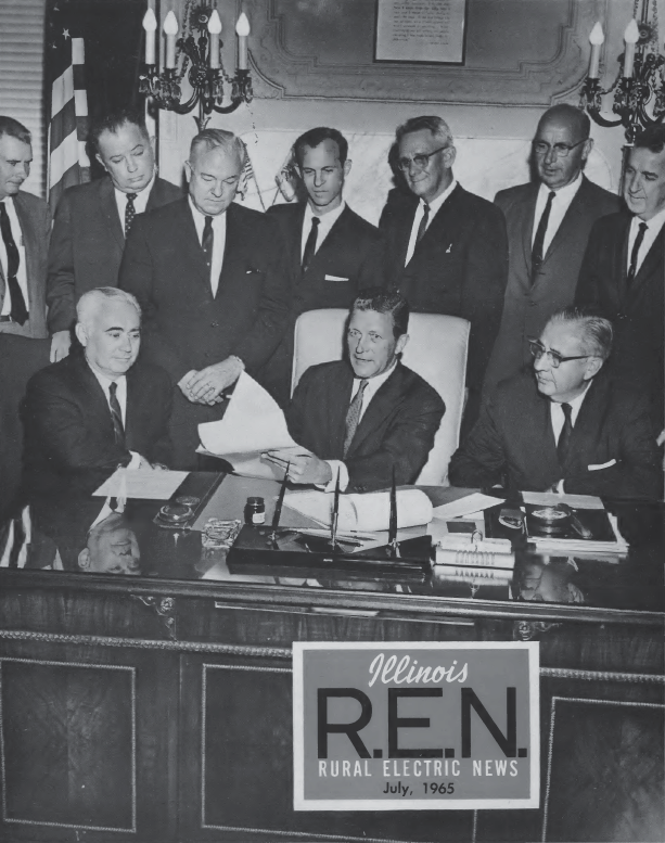 1967 black and white cover of REN magazine