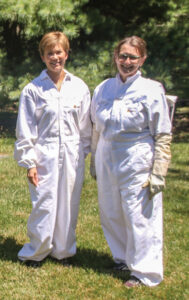 Beekeepers Nancy Bowman and Judy Ostermeier