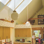 Skylights over a kitchen