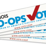 Illinois Co-ops Vote bumpersticker