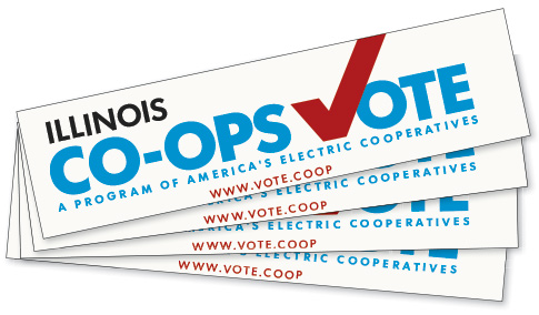 Illinois Co-ops Vote bumpersticker