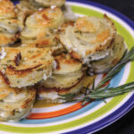 Creamy Rosemary and Parmesan Potato Stacks