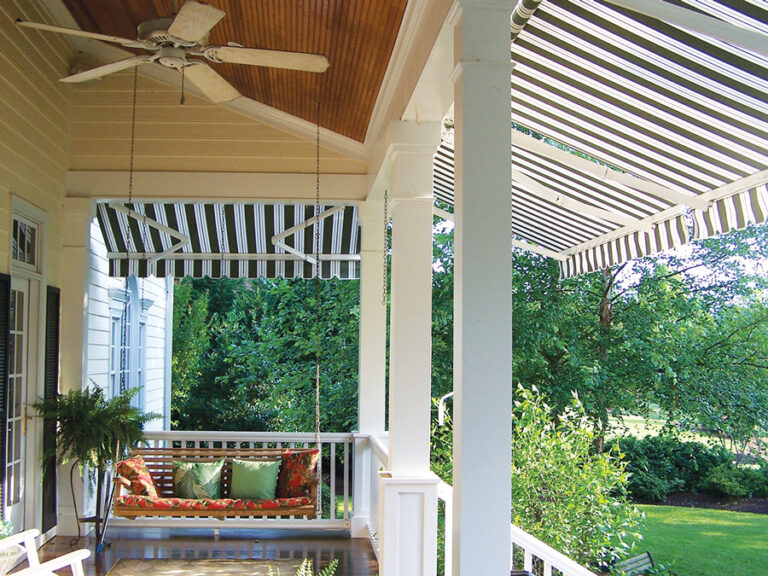 Ceiling Fan on Porch