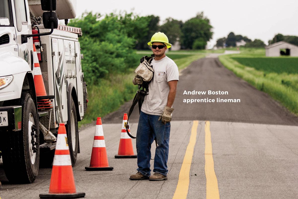 Andrew Boston, apprentice lineman