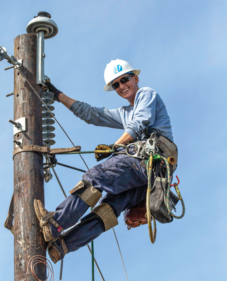 Female lineworker