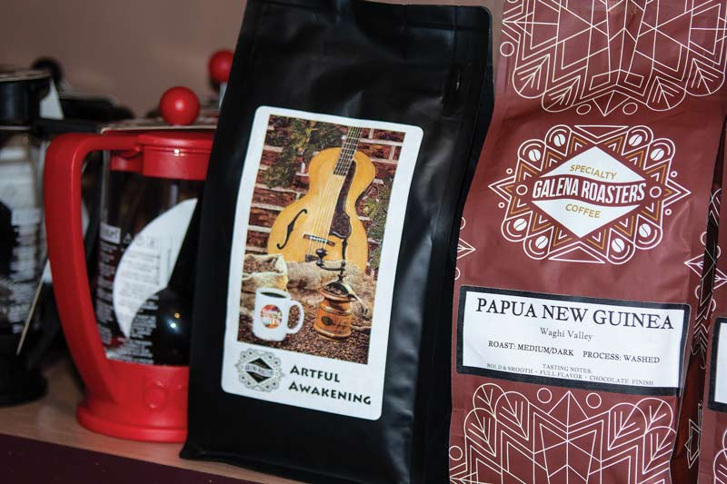 Bags of Galena coffee