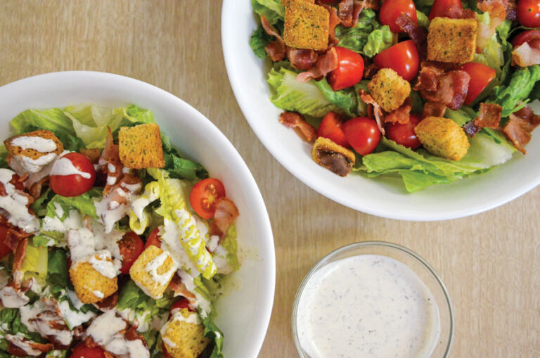 BLT Salad with Homemade Ranch Dressing