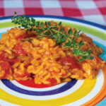 Caramelized Onion and Fresh Tomato Risotto