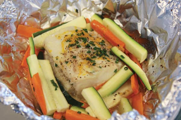 Foil Baked Fish and Veggies