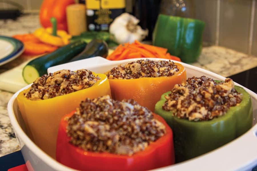 Spiced Stuffed Peppers