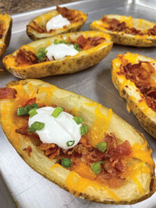Baked potato Skins with bacon